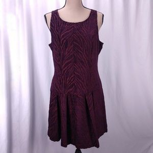 Free People Chenille Drop Waist Zebra Dress